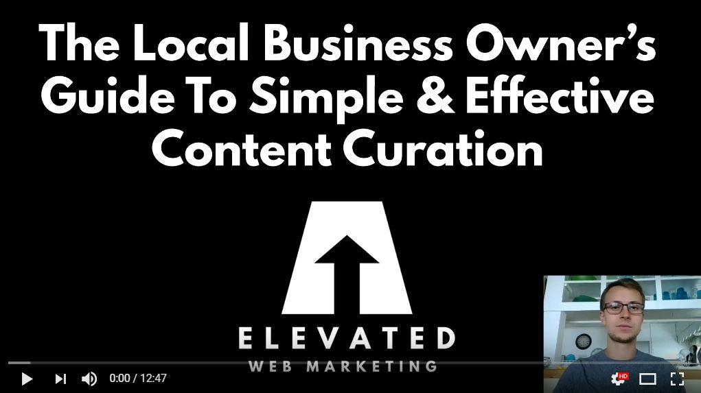 the local business owners guide to simple and effective content curation