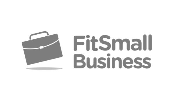 FitSmall Business Logo Grayscale